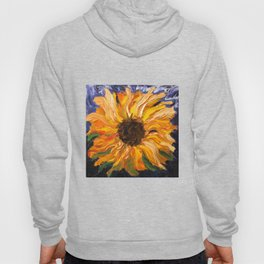 Fiery Sunflower - Original Painting Hoody