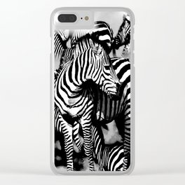 ZEBRA: GO YOUR OWN WAY Clear iPhone Case