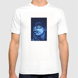 badu?!-blue T-shirt