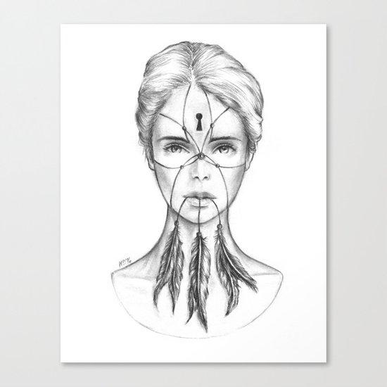 Dreamkeeper (B/W) Canvas Print