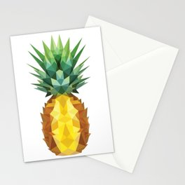 Pineapple Low Poly Stationery Cards