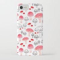 mushroom iPhone & iPod Cases featuring mushroom by viktoria.rodek