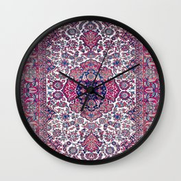 Esfahan Central Persian Rug Print Wall Clock