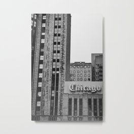 NEWSPAPER CHICAGO Metal Print