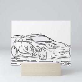 Stroke Car Mini Art Print