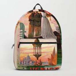 1900 Venice, Italy Travel Advertisement Poster by D'Ales Backpack