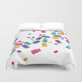 Sweet Jelly Beans & Gummy Bears Duvet Cover