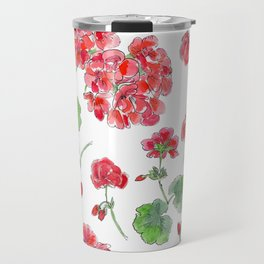 Red malvon pattern Travel Mug