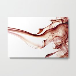 Smoke - Red Metal Print