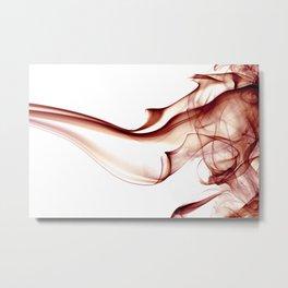 Smoke - Red Metal Print