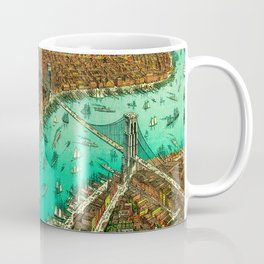 Retro New York Print Coffee Mug
