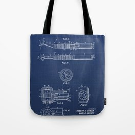 Dental Hand Piece Vintage Patent Hand Drawing Tote Bag