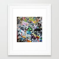 los angeles Framed Art Prints featuring LOS ANGELES by Brandon Neher