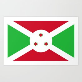 Burundi country flag Art Print