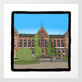 Cambridge struggles: Lund University Art Print