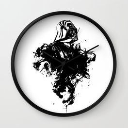 Darth Vader Inked  by Pentasticarts Wall Clock