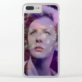 Crying over Butterflies Clear iPhone Case