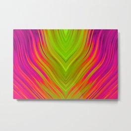 stripes wave pattern 3 w81 Metal Print