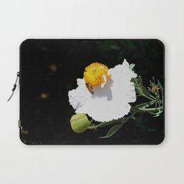Matilija Poppy Laptop Sleeve