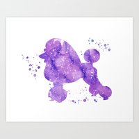 poodle Art Prints featuring Poodle by Carma Zoe
