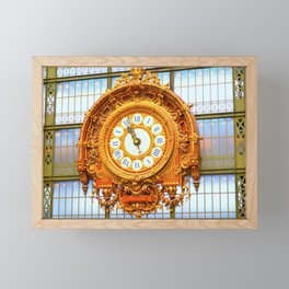 Musee D'Orsay Clock Framed Mini Art Print