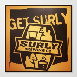 Get Surly Canvas Print