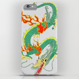 Green Chinese Dragon iPhone Case
