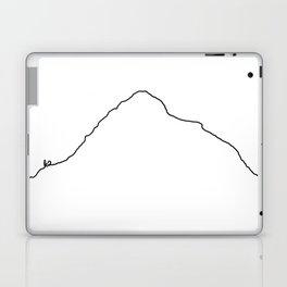 K2 Art Print / White Background Black Line Minimalist Mountain Sketch Laptop & iPad Skin