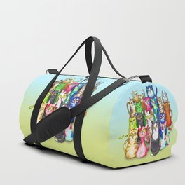 Gang of colorful cats Duffle Bag