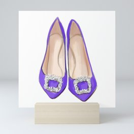 Manolo Purple Shoes Mini Art Print