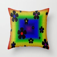 mod Throw Pillows featuring Mod by Raffaella315
