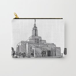 Draper Utah LDS Temple Carry-All Pouch
