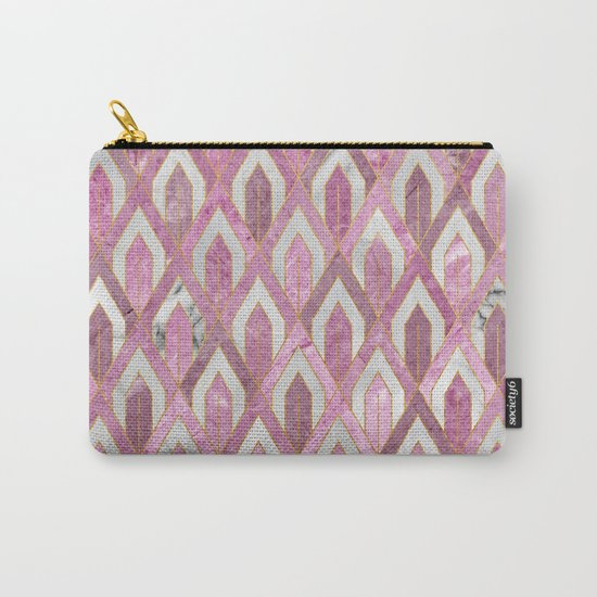Art Deco Marble Pattern IV Carry-All Pouch