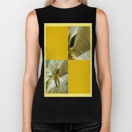 Pale Yellow Poinsettia 1 Blank Q7F0 Biker Tank