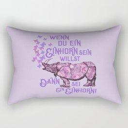 Nashorn Einhorn Motivation Humor Rectangular Pillow