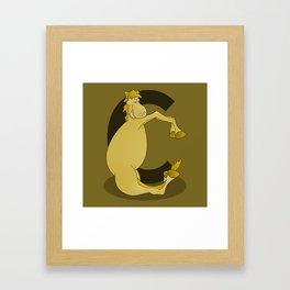 Pony Monogram Letter C Framed Art Print