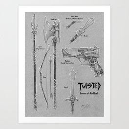 Twisted Props: Forms of Maddock Art Print