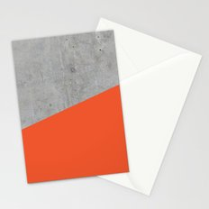 Concrete and flame color Stationery Cards