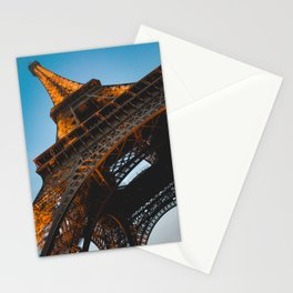 Eiffel Tower Lit Up | Paris France City Night Urban Photography Stationery Cards