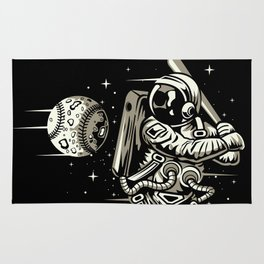 Space Baseball Astronaut Rug