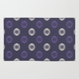 Abstract ultra violet scribble circle seamless pattern Rug