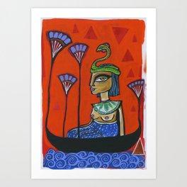 Queen of Da Nile Art Print
