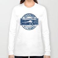 aviation Long Sleeve T-shirts featuring Retro Aviation Art by MacDonald Creative Studios