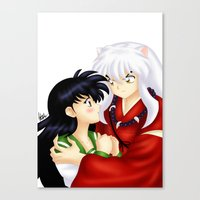 inuyasha Canvas Prints featuring InuYasha Love by HaruShadows