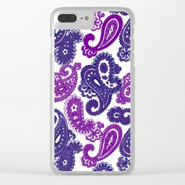 Fun Purple Paisley Clear iPhone Case