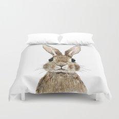 cute innocent rabbit Duvet Cover