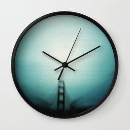 Golden Gate in blue Wall Clock