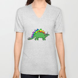 Stegocorn (Unicorn Stegosaurus) Unisex V-Neck