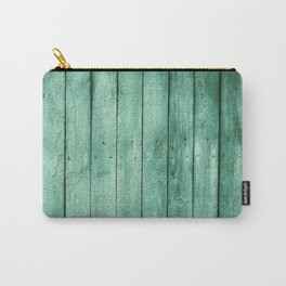 green wooden fence Carry-All Pouch
