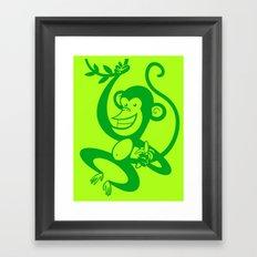 Green Monkey Framed Art Print